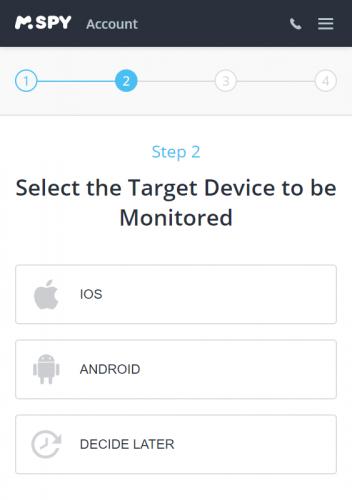mspy signup step 2